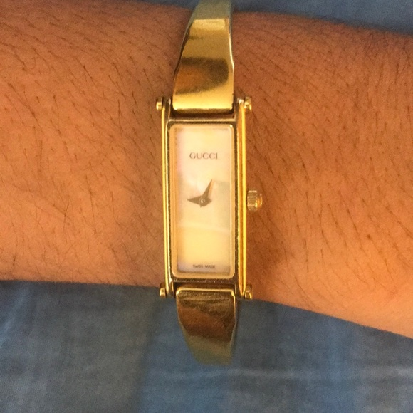 eedf03e2077 Gucci Accessories - Vintage Gucci watch with mother of pearl face.